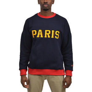 Men's Paris Fleece Crewneck Navy