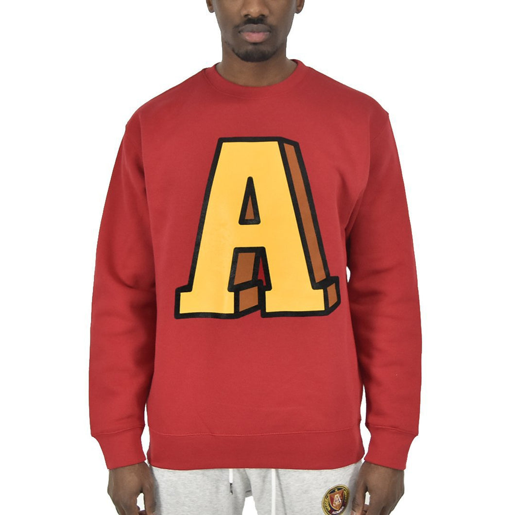 Men's Anchor A Crew Neck - Red