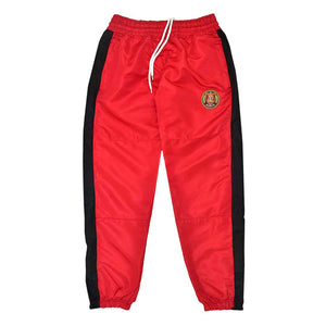 Striped Windbreaker Pant Red with Black