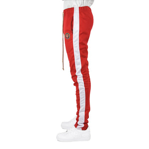 Men's Track Pants - Red/White