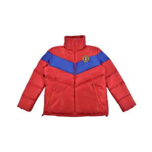 Varsity Women's Puffer Jacket- Red