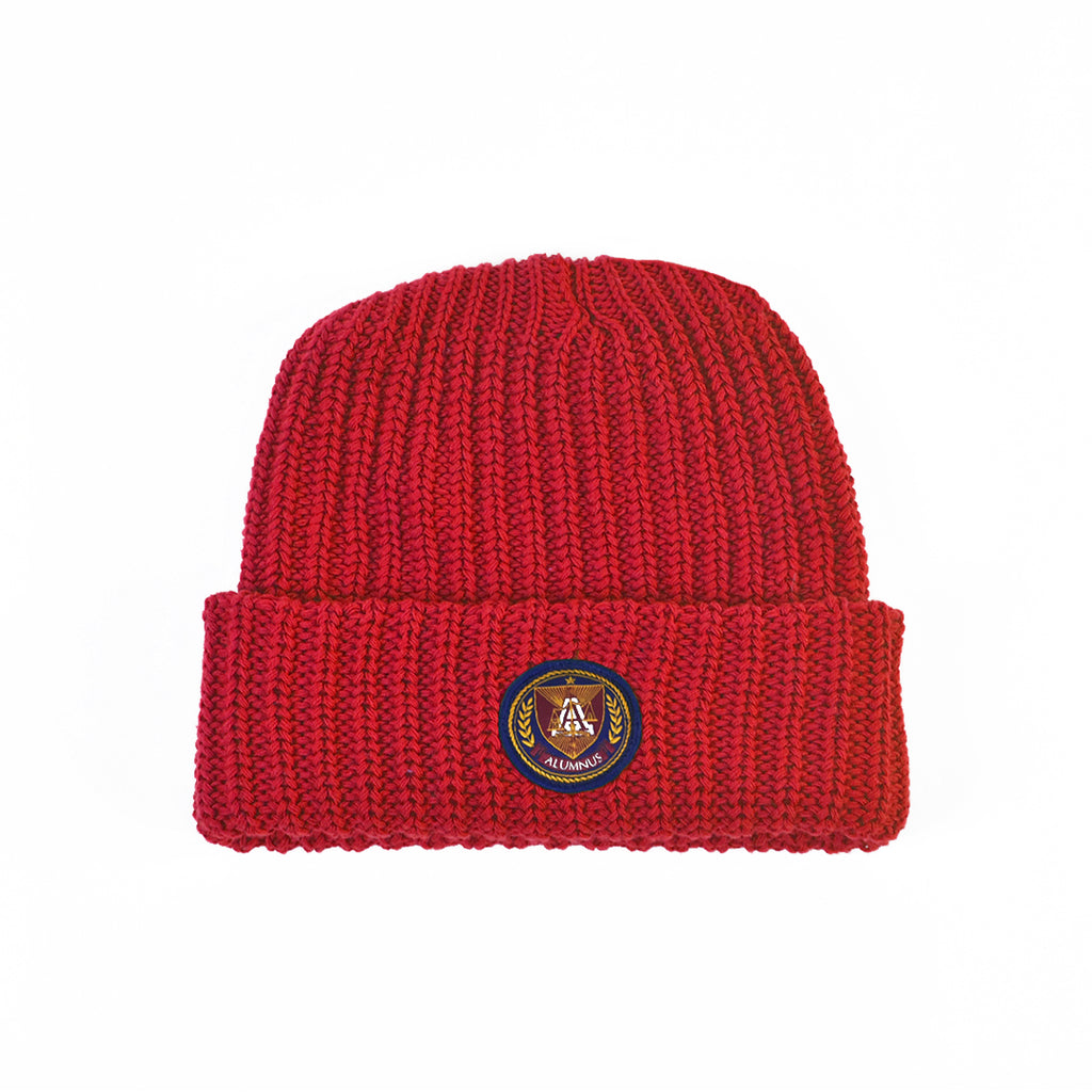Knit Beanie - Red