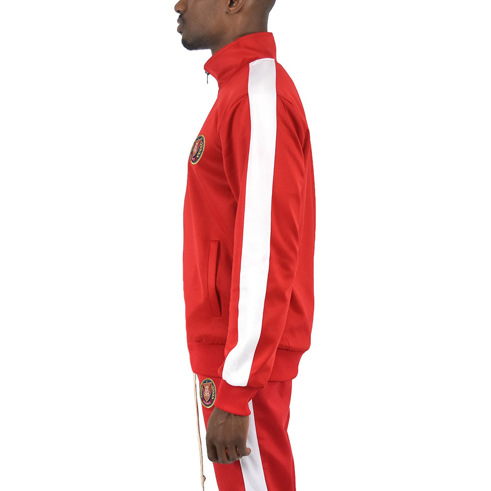 Men's Track Jacket - Red/White