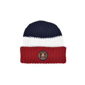 Knit Beanie - Red Multi