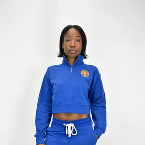 Half-Zip Long Sleeve - Royal