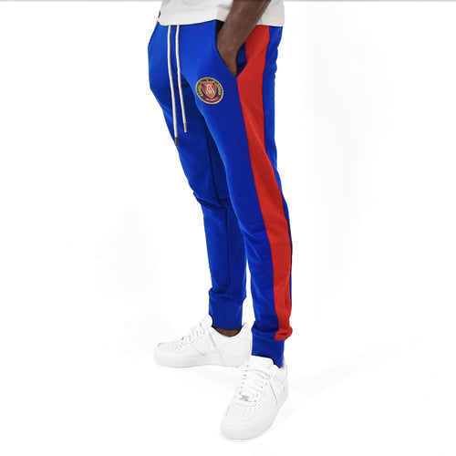 Men's Royal Stripe Jogger - Royal/Red