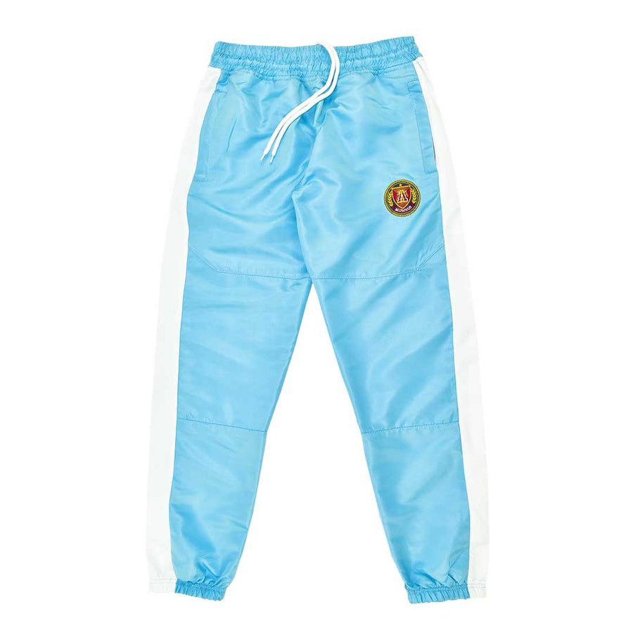Striped Windbreaker Pant Sky Blue with White