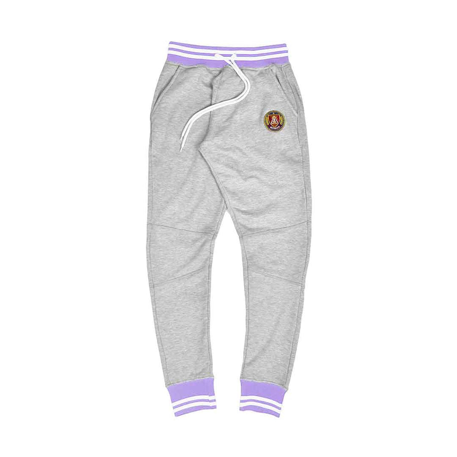 Lavender & White Striped Rib Joggers Grey