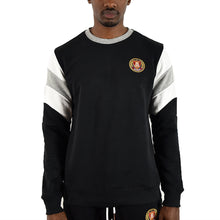 Men's Striped Sleeve Crewneck - Black/White
