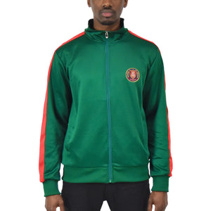 Men's Track Jacket - Green/Red
