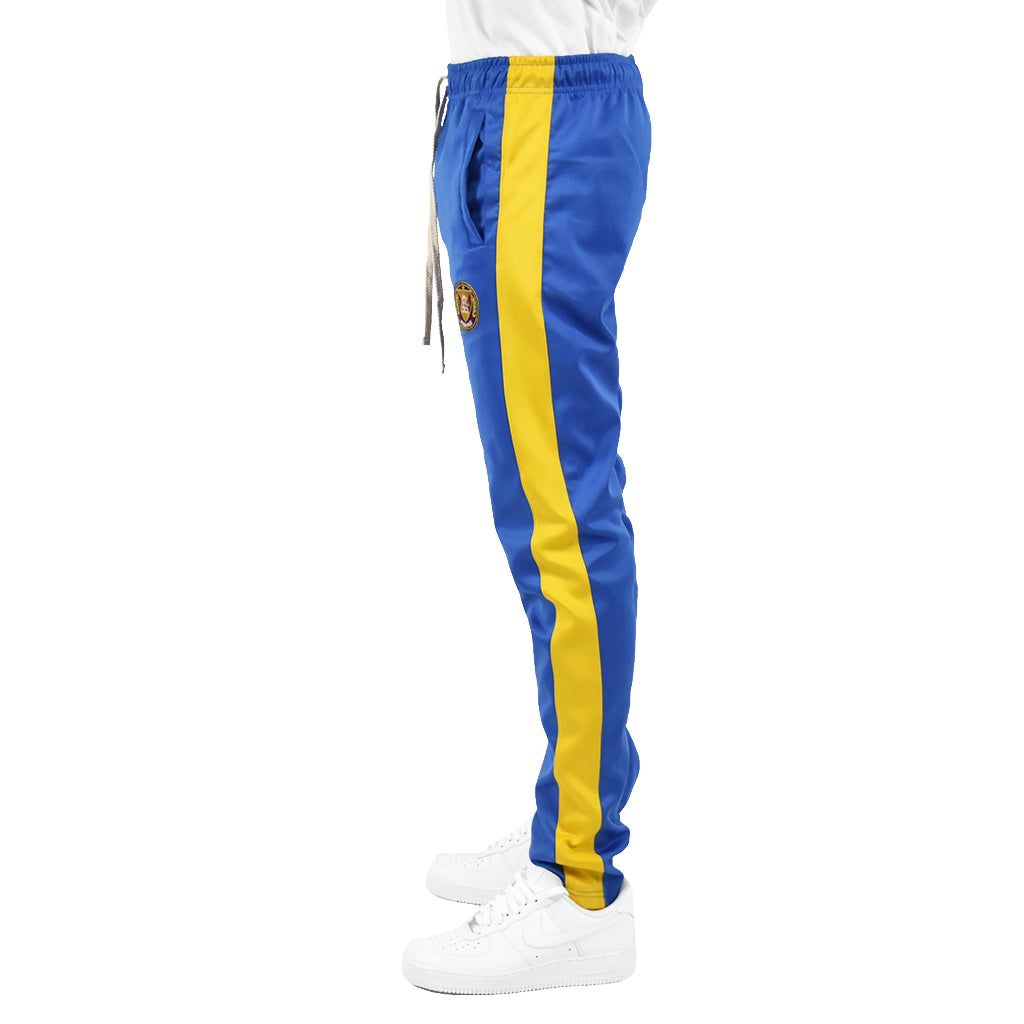 Men's Track Pants - Royal/Yellow