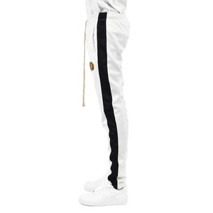 Men's Track Pants - White/Black