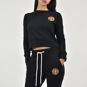 Women's Black Crewneck