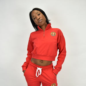 Half-Zip Long Sleeve - Red