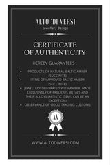 altodiversi certificate of authenticity amber jewelry