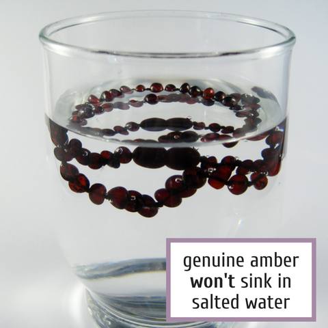 Cherry baltic amber necklace, genuine, original, real Baltic Amber, Authenticity test in salted water