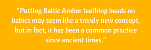 amber teething necklace in ancient times