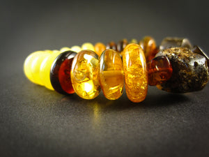 Genuine Handmade Amber Bracelet, Multicolor, big Size, irregular beads, For Her, Nursing Mums