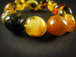 Genuine Handmade Amber Bracelet, Multicolor, medium Size, Small Faceted Beads, , For Her, Nursing Mums