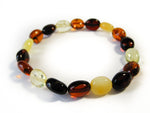 Genuine Handmade Amber Bracelet, cherry, cognac, lemon, milky, Medium Size, polished oval Beads, Healing properties, For Her, Nursing Mums
