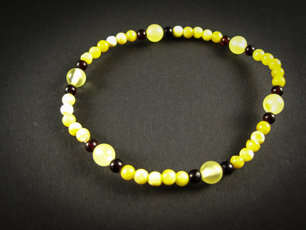 Genuine Handmade Amber Bracelet, Milky, Cognac, Small Size, Small Round Beads, Healing properties, For Her, Nursing Mums