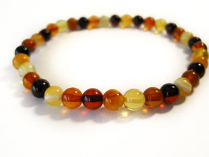 Genuine Handmade Amber Bracelet, Milky, Cognac, Small Size, polished, Small Round Beads, Healing properties, For Her, Nursing Mums