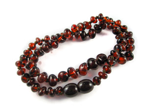 Genuine Handmade Amber Necklace, Cherry Beads, for Adults, Polished Beads, Gemstone, Healing properties, Nursing Mums, for Women