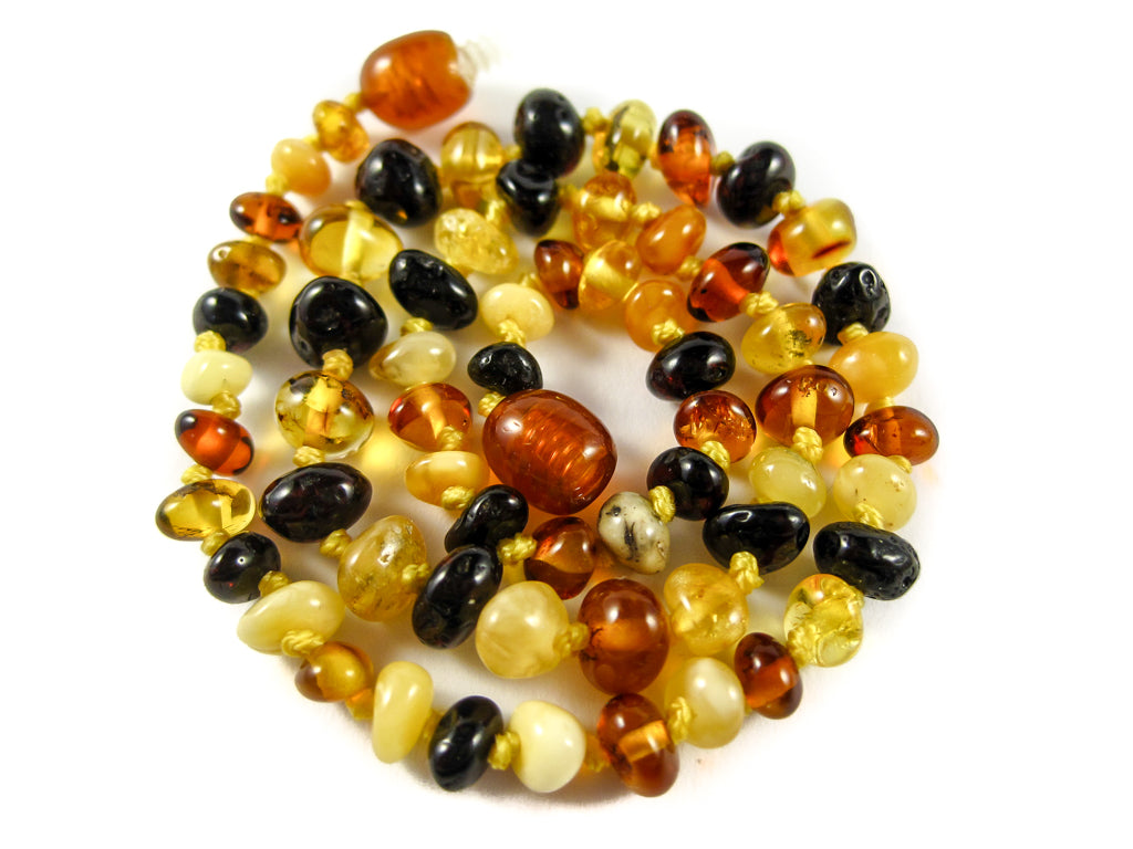 Genuine Handmade Amber Necklace, Multicolor Beads, for Adults, Polished Beads, Gemstone, Healing properties, Nursing Mums, for Women