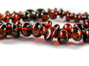 Genuine Handmade Amber Necklace, zoom, Cherry Beads, for Adults, Polished Beads, Gemstone, Healing properties, Nursing Mums, for Women