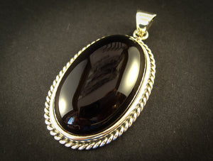 Ambitious Cherry Silver Amber Pendant with Cherry Baltic Amber, minimalistic, for her, amber gift