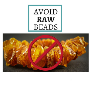 amber teething necklace safe - avoid raw beads - complete guide 2018