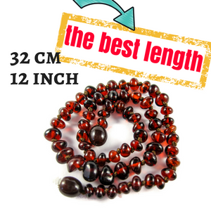 amber teething necklace safe - best length 32 cm or 12 inch - complete guide 2018