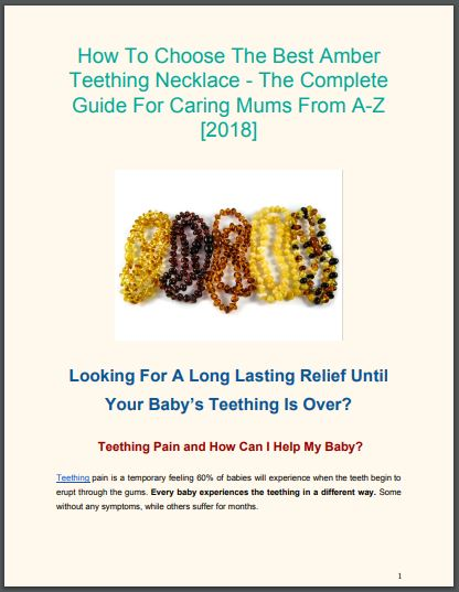 complete guide for caring mums for 2018 - the best and safest amber teething necklace tips and golden rules