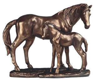 Bronze Horse With Foal (Available U.S. Only)