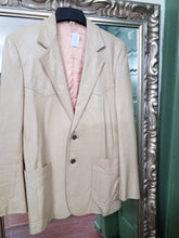 Large 70s Western Leather Coat with pink Satin Lining Soft