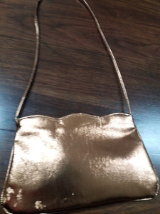 Vintage Metallic Over The Shoulder Purse VTG Handbag