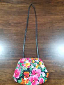 Vintage Floral Handbag 80s shoulder bag