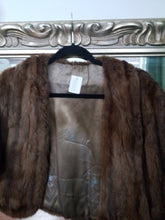 Real Fur Shrug Vintage Fur Cape Satin lining as is