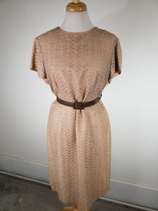 XXL 1960's Wiggle Dress Size 18 Vintage Metal Zipper Dress