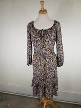 Medium 1970s Boho Sheer Floral Dress Vintage Spring Dress