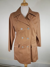 Medium 1960's Structured Light Cotton Jacket Spring Coat