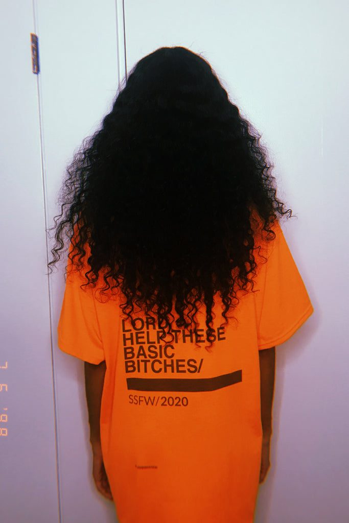 Basic Bitches T-Shirt Neon Orange