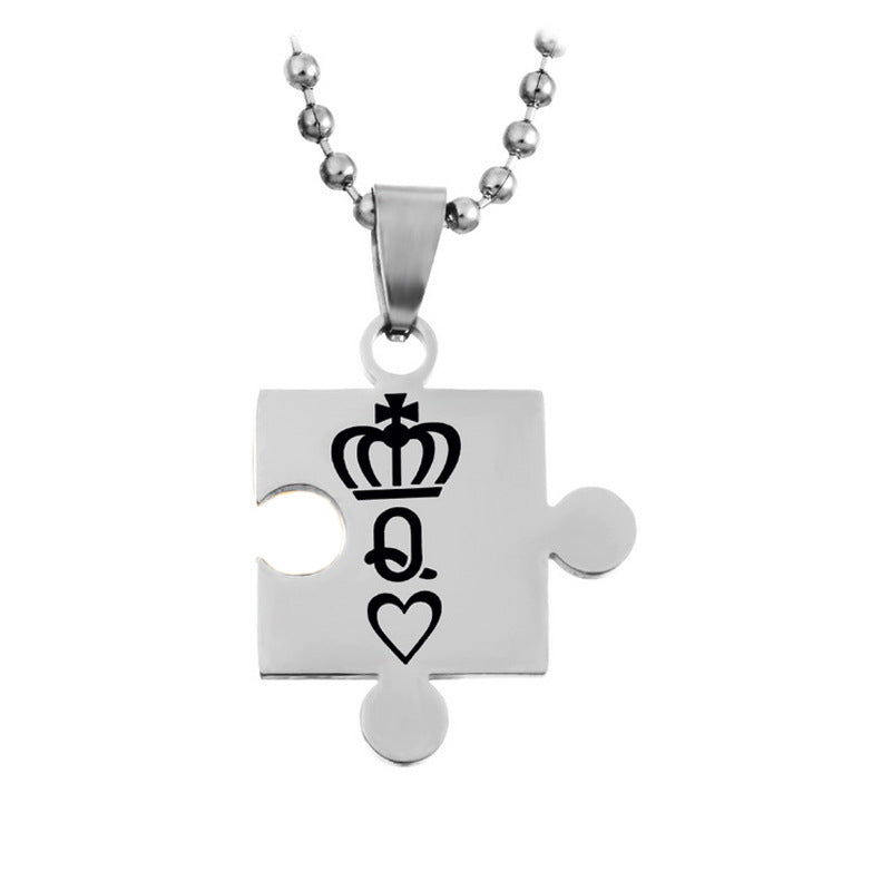 King and Queen Pendant Love Necklaces