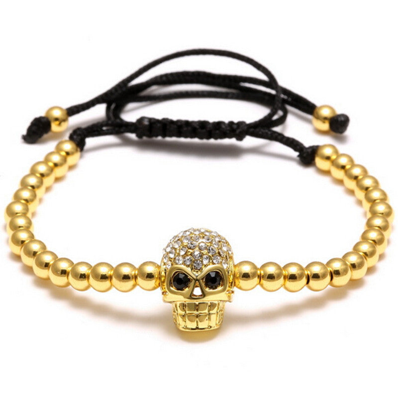 Skull Charm Bracelet Perfect for Stacking