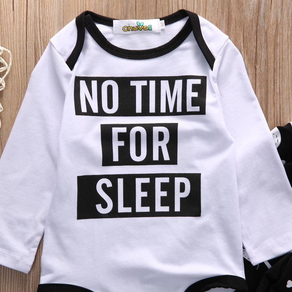 No Time For Sleep Set 2pcs Suit