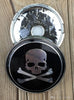 4PCS X 60mm Skull FACE Car Center Cap Badge Emblem