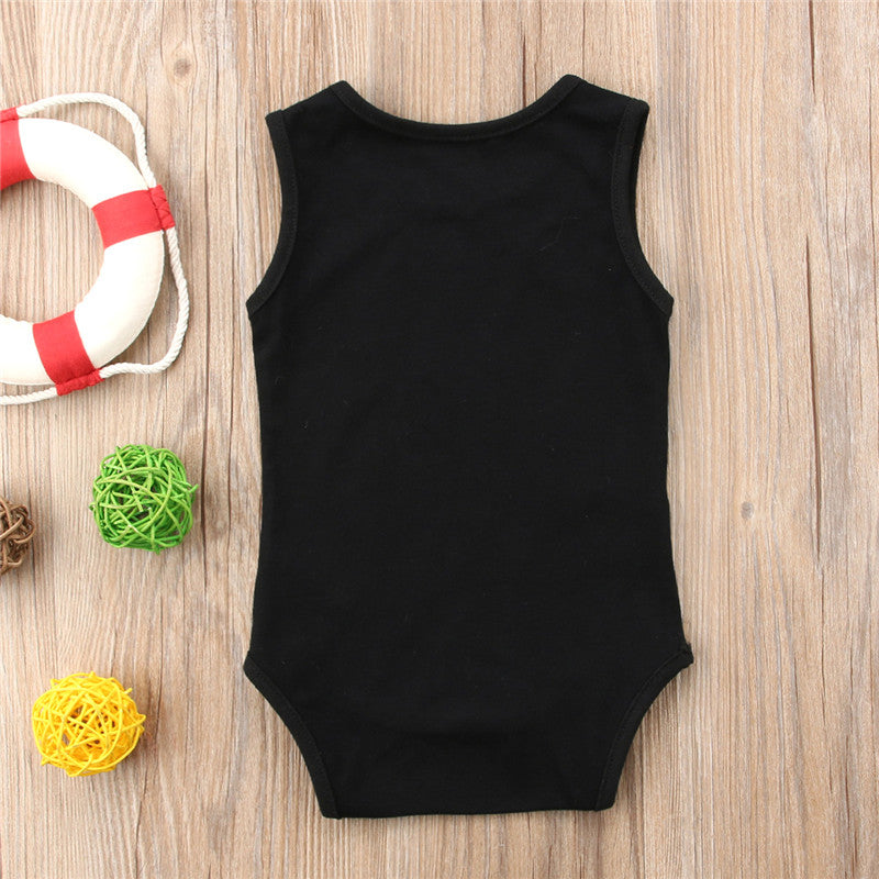 Baby Finger Skull Onesie Sleeveless Cotton