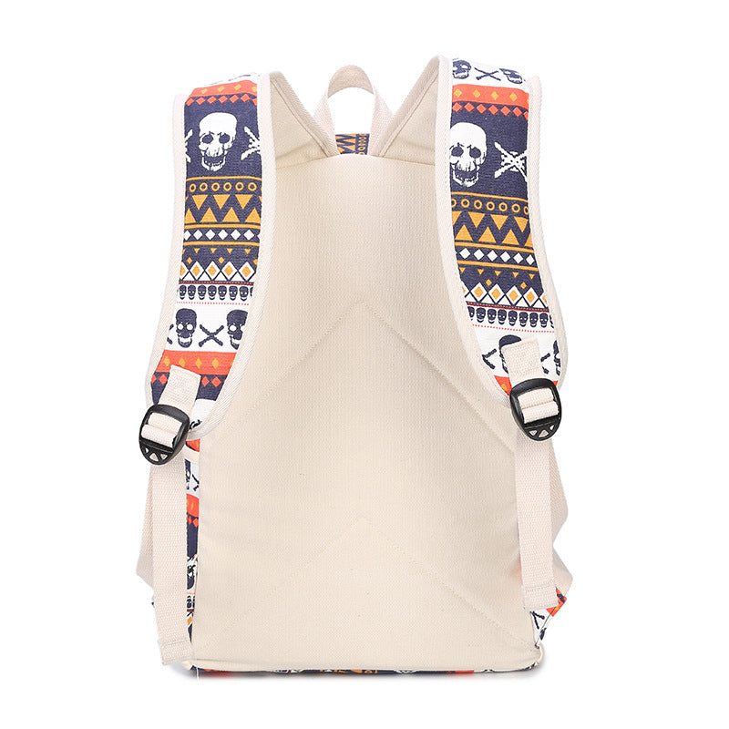 Backpack Skull Canvas Set