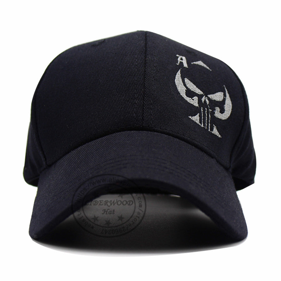 Ace of Spades  Punisher Skull Embroidered  Hat