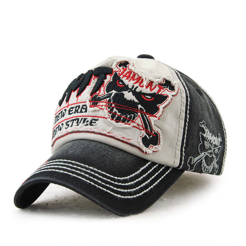 New Era Skull Pattern Embroidery Baseball Hat